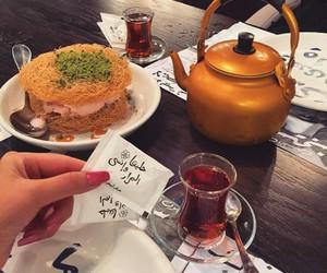 شاي, كلمات, and كنافة image