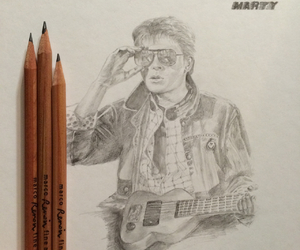art, Back to the Future, and drawing image