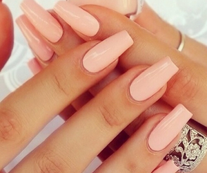 hands, nails, and pink image
