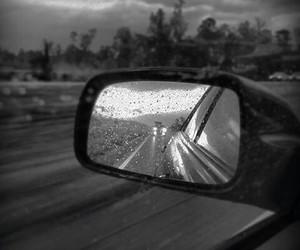 black, rain, and car image