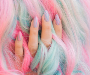 blue, colorful, and cotton candy image