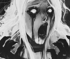 art and creepy image