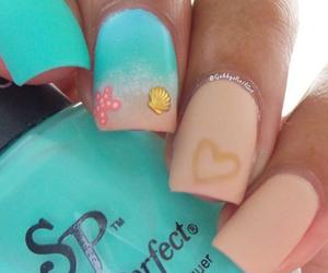 nails, summer, and beach image