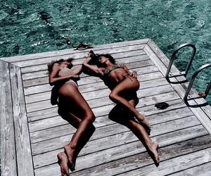 bikini, fitness, and tan image