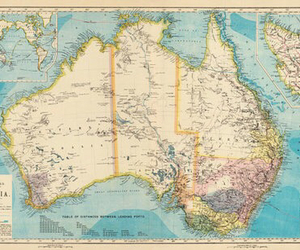 geography, australia, and map image