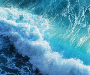 blue, pretty, and waves image