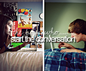 boy, conversation, and start image