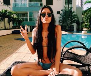 summer, girl, and bikini image