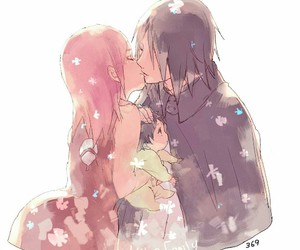 kiss, naruto, and sasusaku image