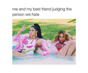 best friend, funny, and hate image