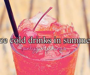 summer, drink, and ice image