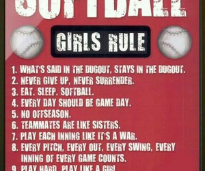 softball girls awesome image