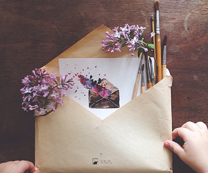 flowers, art, and Letter image