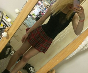 girl, outfit, and scene image