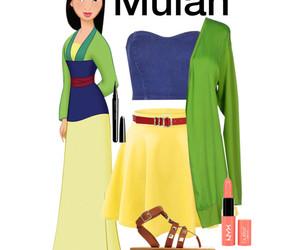 disney, fashion, and mulan image
