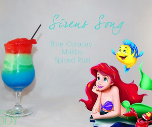 disney, ariel, and cocktail image