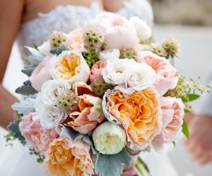 flowers, beautiful, and bride image