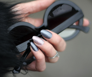 nails, sunglasses, and black image