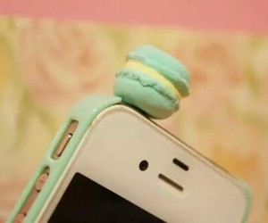 iphone, cute, and macaron image