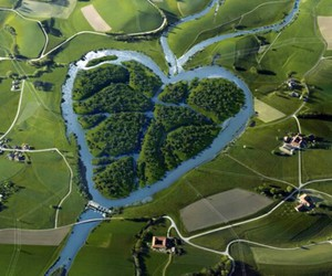 heart, nature, and river image