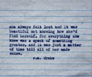 quotes, typewriter, and rm drake image