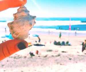 beach, nails, and summer image