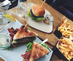 food, burger, and sandwich image