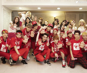 exo, snsd, and girls generation image