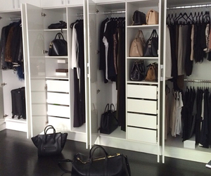 black and white, chanel, and closet image