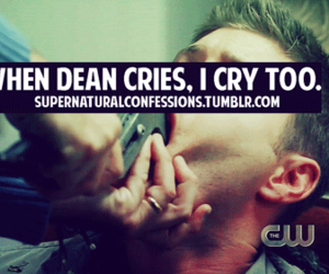 dean winchester, supernatural, and supernatural confessions image