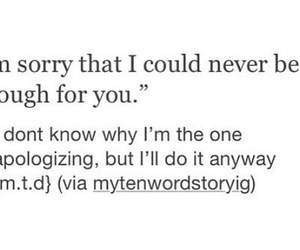 apology, breakup, and enough image