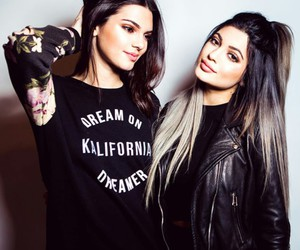kendall jenner, kylie jenner, and straight silver hair image