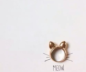 meow, cute, and ring image