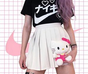 nike, pastel, and pink image