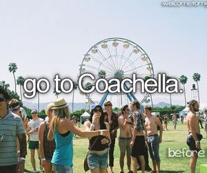 coachella, bucket list, and festival image