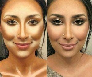 eyebrows, make up, and make-up image