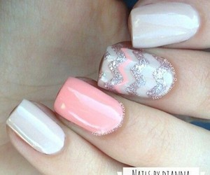 chevron, pretty, and nails image