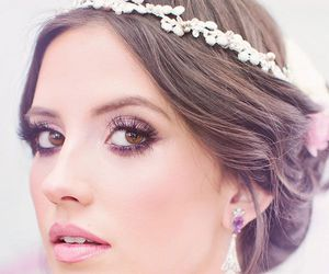 beautiful, bridal, and hair image