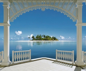 Island, sea, and bahamas image
