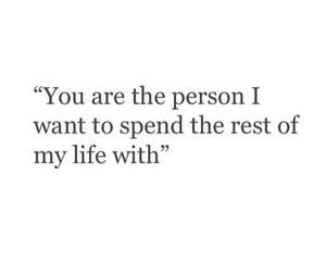 with you, the rest of my life, and the person image
