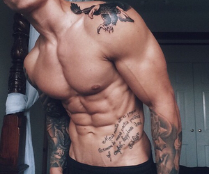tattoo, boy, and Hot image