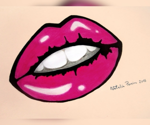 art, awesome, and lips image