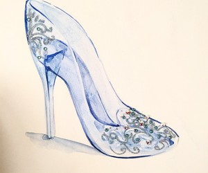 cinderella, disney, and shoe image