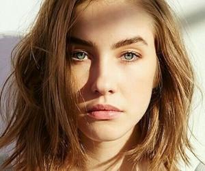 hair, eyes, and short hair image