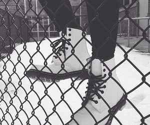 grunge, shoes, and snow image