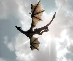 dragon, sky, and fantasy image