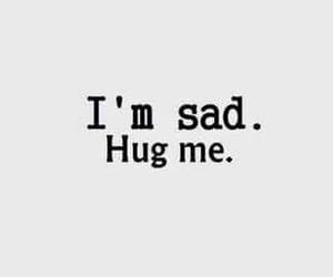sad and hug image
