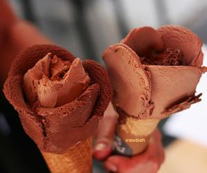 ice cream, chocolate, and food image
