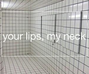 grunge, lips, and neck image