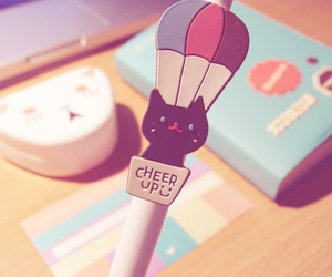 cute, cat, and cheer up image